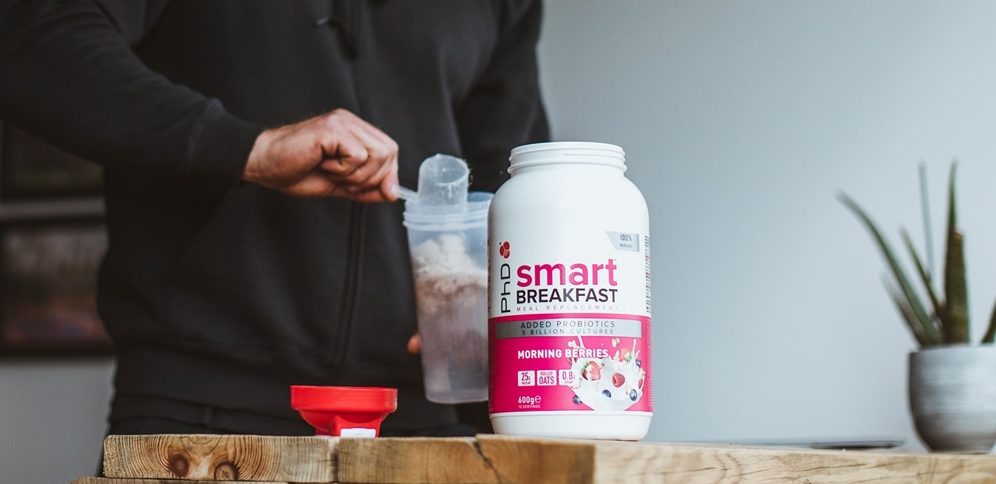 POhD Smart Breakfast Shake to fuel your morning workout.